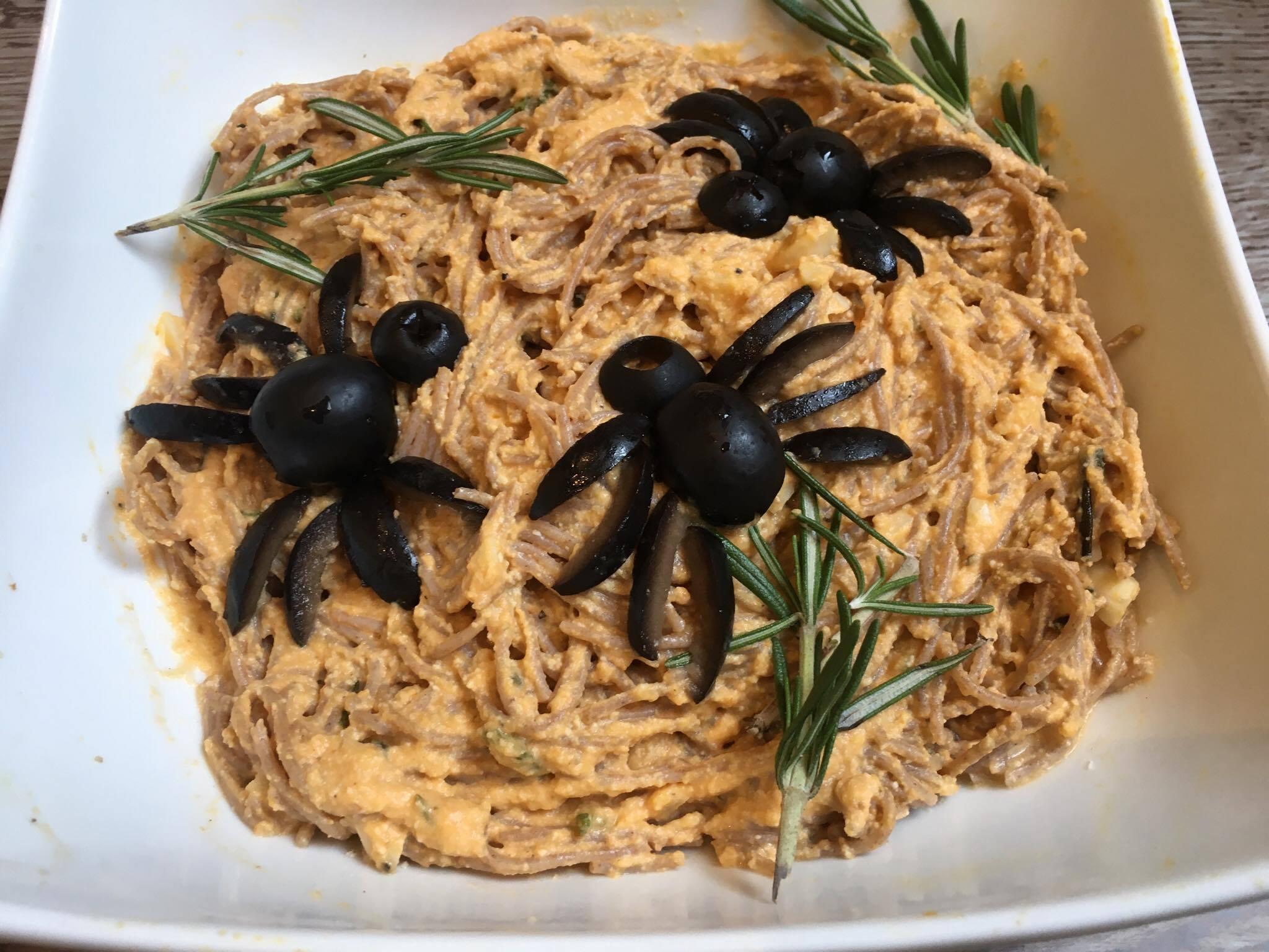 spider vegan pasta